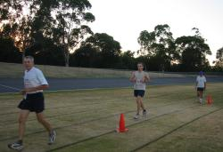Gosford 6 am: Kieron and I after more than 10 hours of race